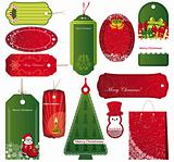Twelve Sets of Christmas tags.