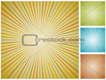 Abstract vintage starburst background.