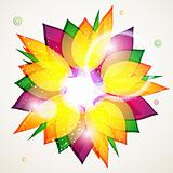 Floral abstract background. eps10