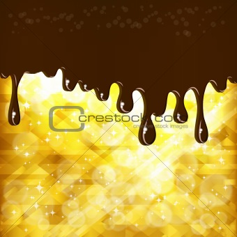 Abstract background with chocolate drops.
