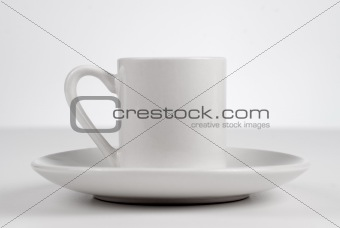 Empty white cup