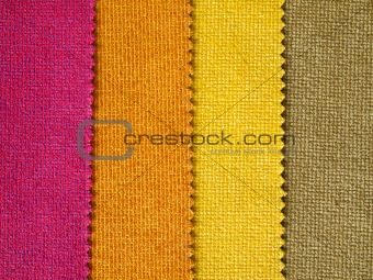 Sample hot tone color fabric