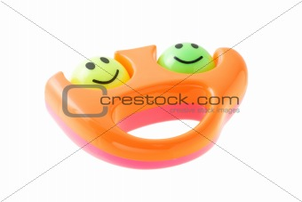 Smiley infant rattle