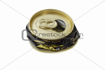 Crushed disposable can