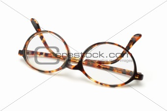 Old fashion plastic frame eyeglasses