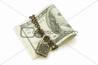 100 US dollars bills - safe and secured