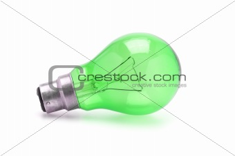 Green tungsten light bulb