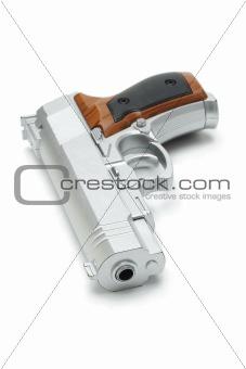 Silver toy gun