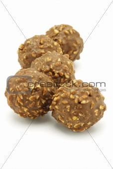 Five chocolate balls