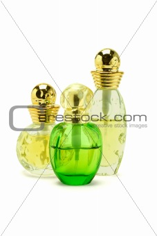 Three bottles of perfume