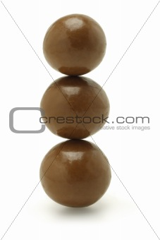 Three chocolate balls