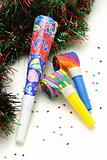 Colorful Party horn and blowers