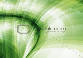 Abstract green geometric patterns in motion