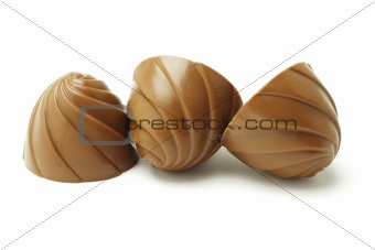 Three chocolate candies in a row