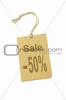 50% discount price label