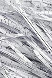 Shredded waste paper strips