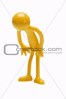 Bowing rubber toy figurine