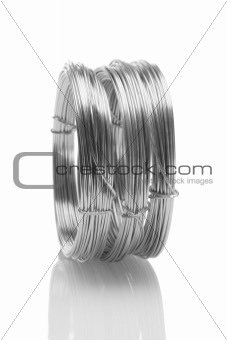 Coils of galvanized wires