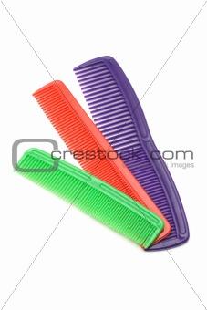 Three plastic combs