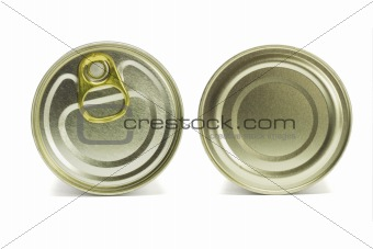Top and under sides of tin can