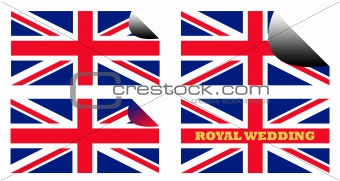 Royal Wedding labels or stickers