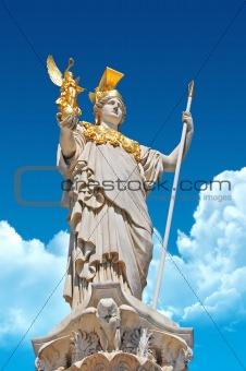 Pallas Athene in front of Austrian parliament in Vienna