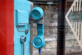 blue Telephone receiver