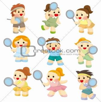 cartoon Tennis Players icon