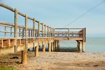 Beach footbridge