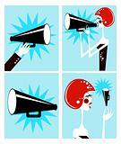 Loudspeaker and megaphone
