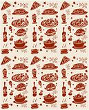 Food seamless pattern web background or fabric