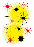 Retro Stars Clip Art Vintage