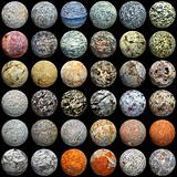 Balls of different materials - seamless texture