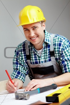 Engineer working