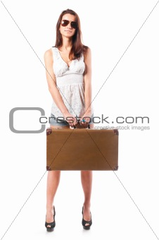 woman with case