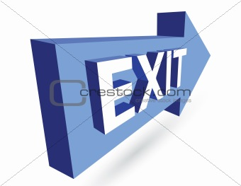 3D exit and arrow