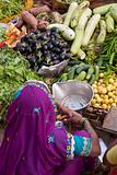 Colorful Vegetable Market