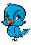 Cartoon of blue bird