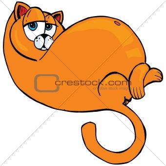 Cartoon of fat orange cat