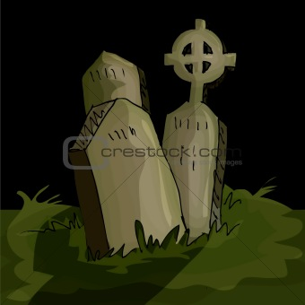 Gravestones in a graveyard