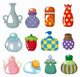 cartoon bottle icon