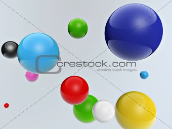 3d colorful balls