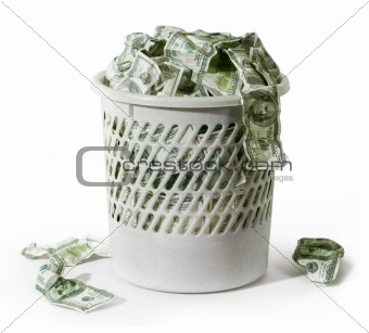 Rubbish with dollars