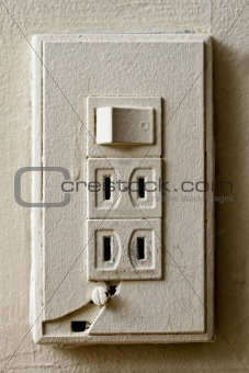 Old broken light switch