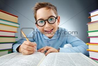 Clever schoolkid