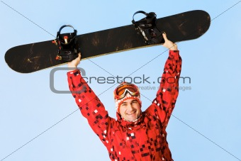 Happy skateboarder