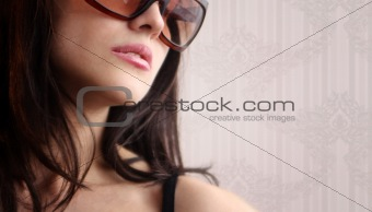 Sexy woman in sunglasses