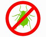 Aphid prohibition sign