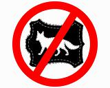 Prohibition sign fox fur