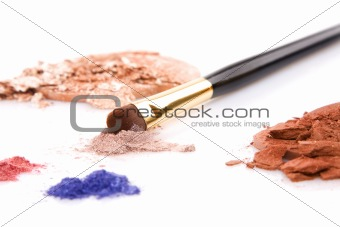 powder for makeup and brush
